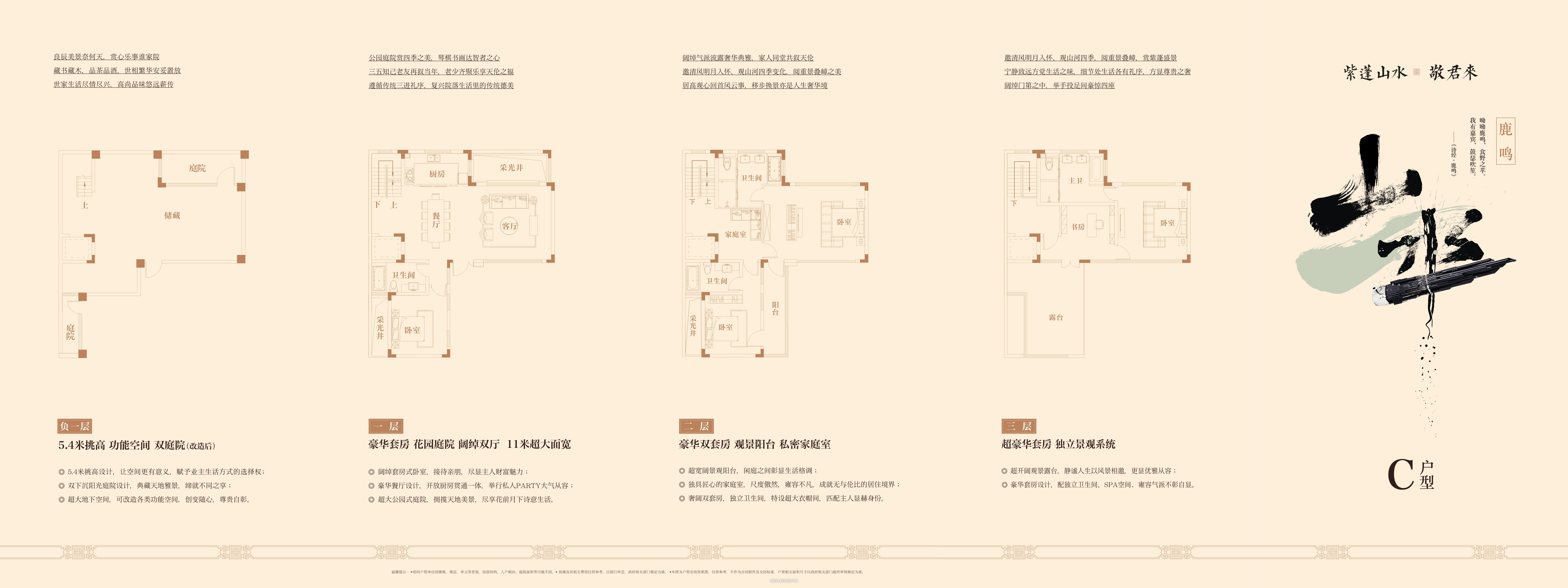 中国院子C户型318㎡户型图