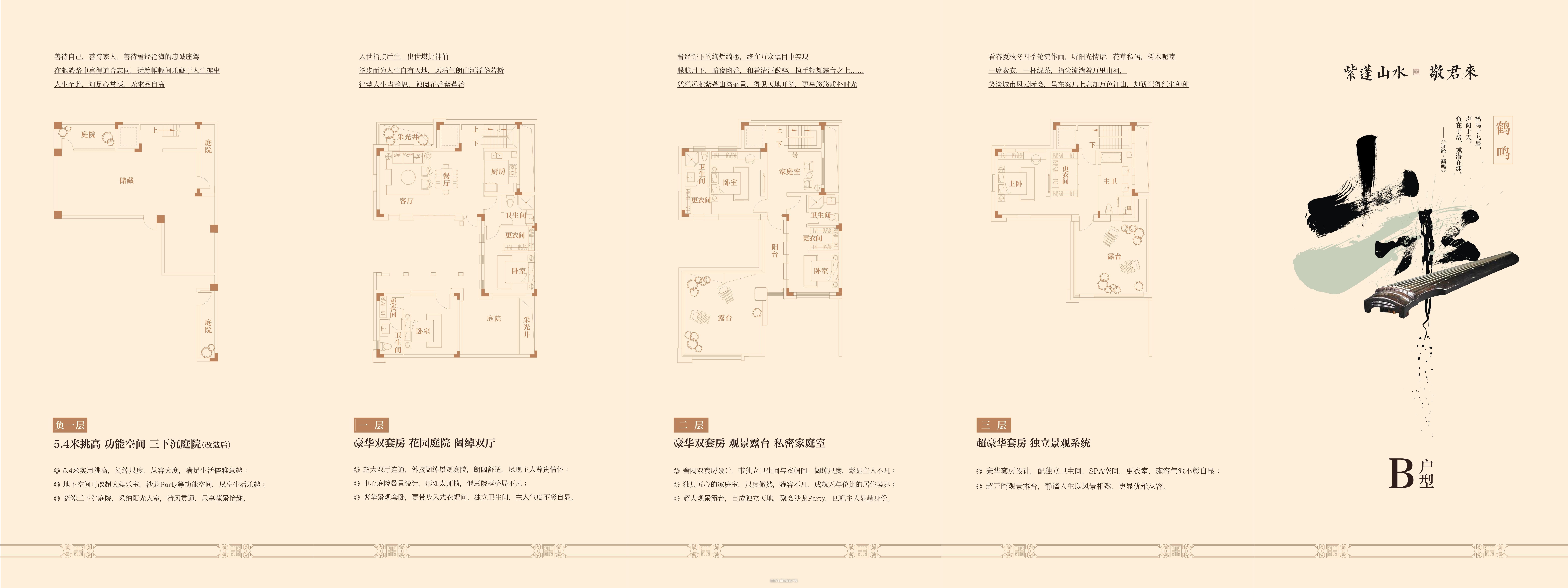 中国院子B户型325㎡户型图