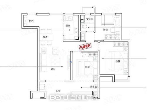 3室2厅1卫103㎡