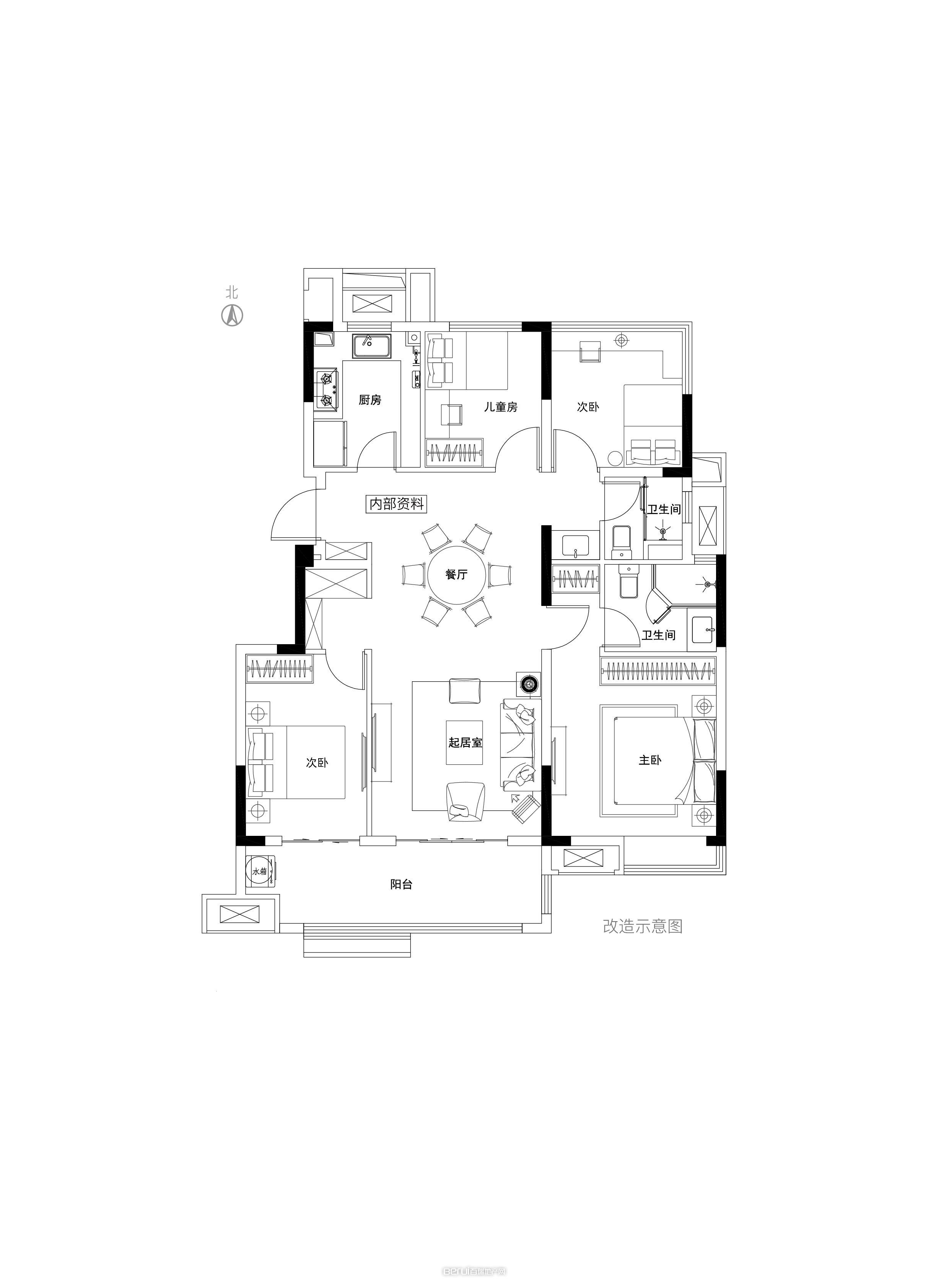 Y5洋房120㎡户型图