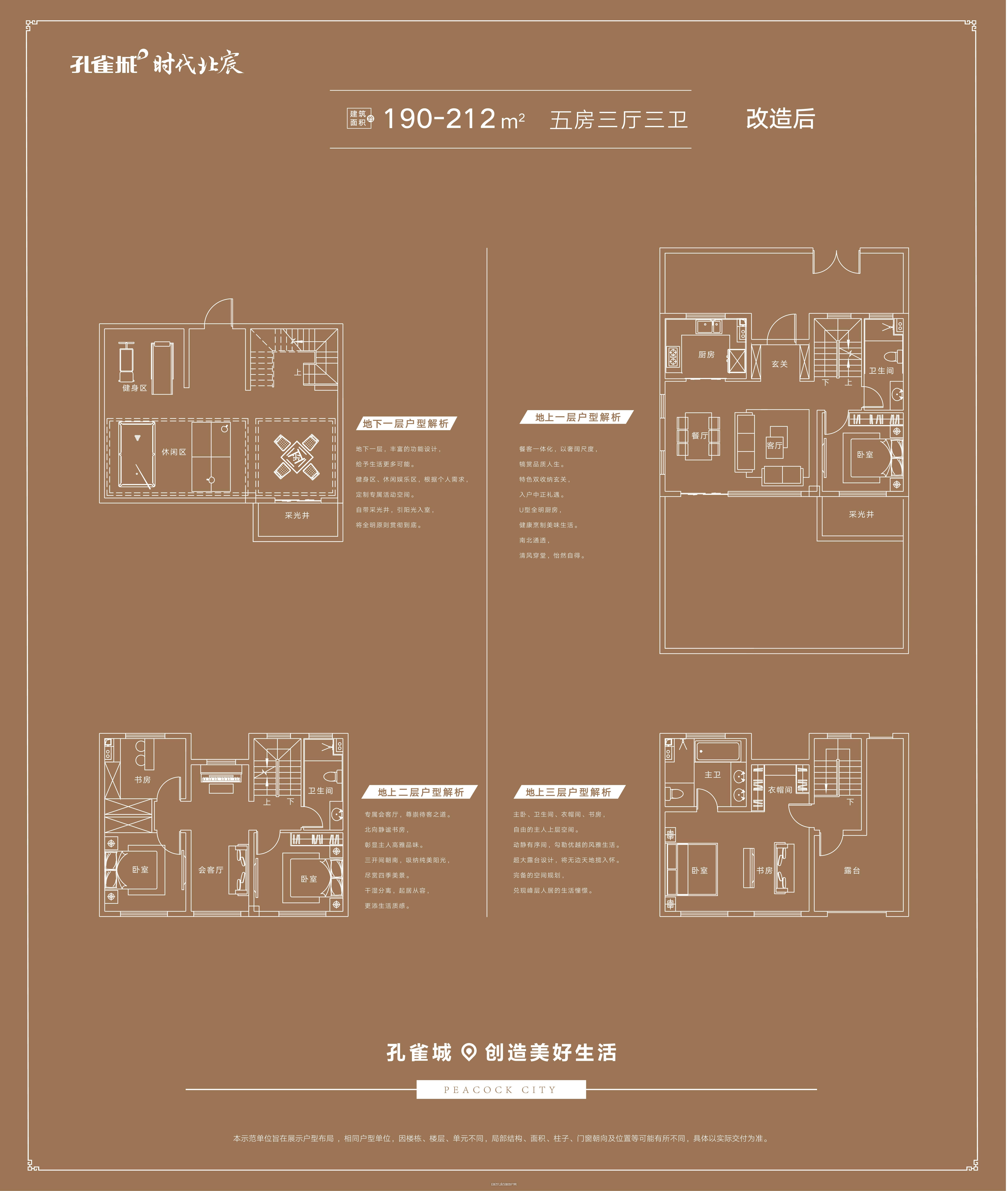 别墅B户型190-212㎡