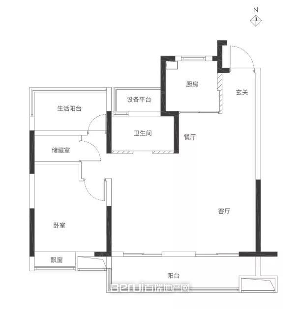 旭辉·翡翠江来户型图