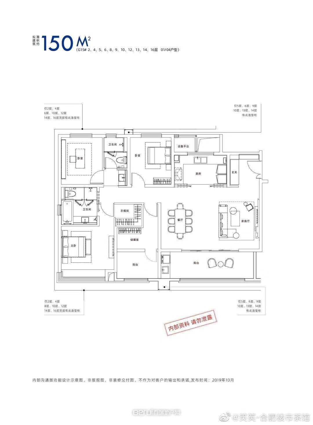 4室2厅2卫150㎡