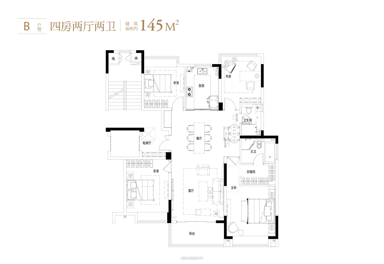 中国府145㎡户型图