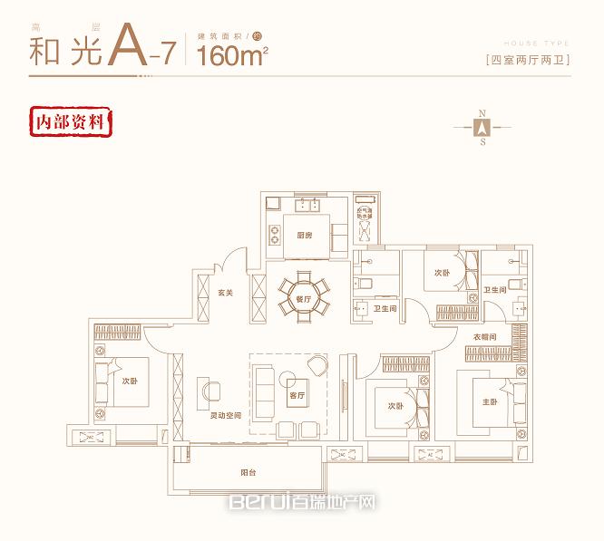 4室2厅2卫160㎡