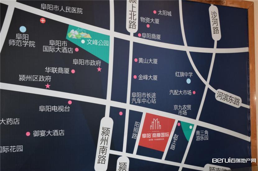 阜阳商厦国际城交通图