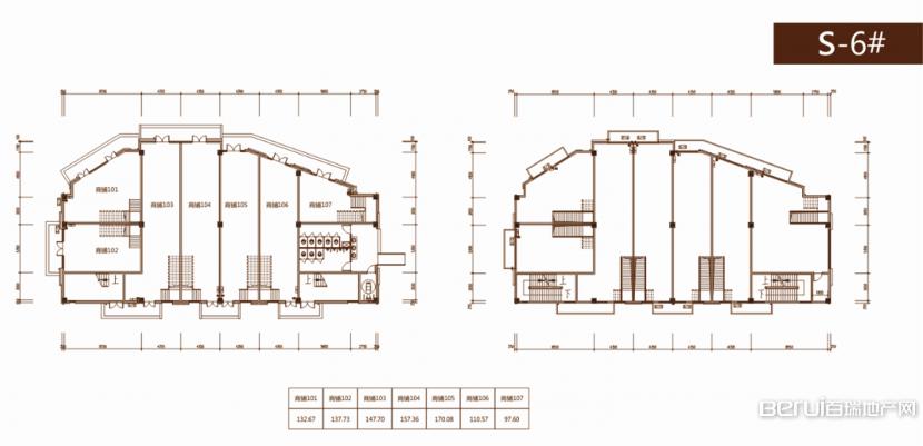 光明观澜印象S-6#商铺户型平面图