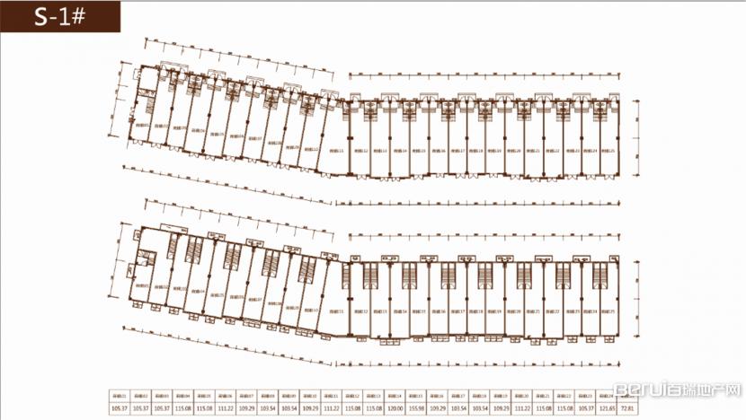 光明观澜印象S-1#商铺户型平面图