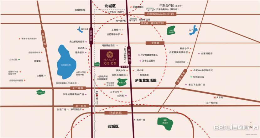 文德艺墅交通图