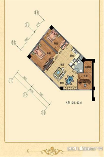 力和丹桂公寓户型图