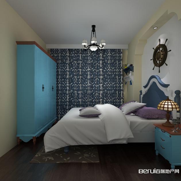 安通缘梦天地D户型地中海风格卧室