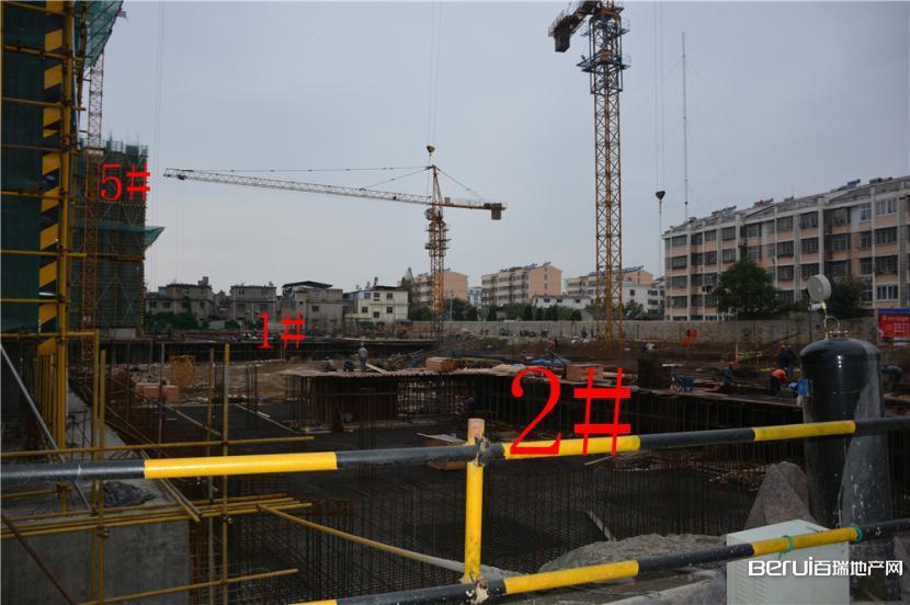 恒业华府1#、2#地基起步 5#7F封顶8F在建