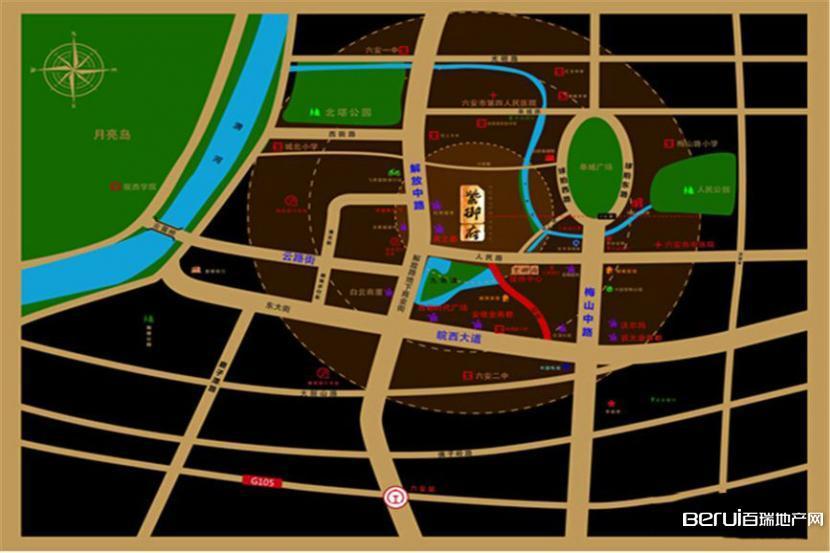 六安紫御府交通图