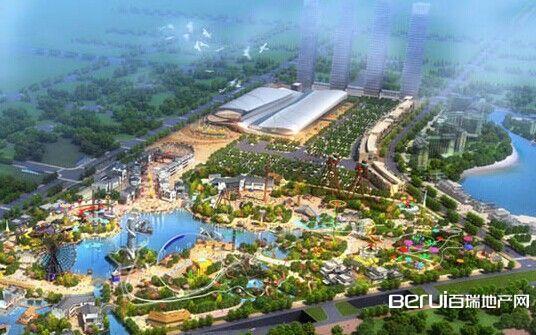 文一·塘溪津门周边万达文化旅游城全景图