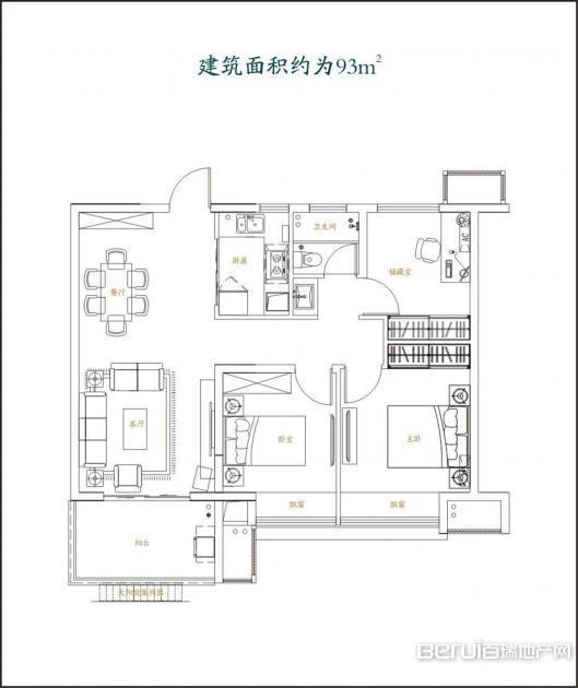 3室2厅1卫0㎡
