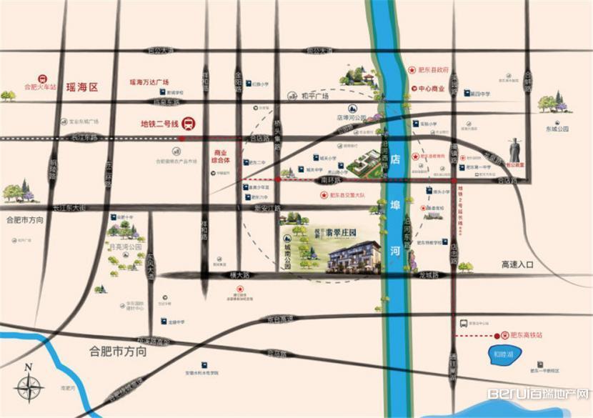皖新翡翠庄园交通图