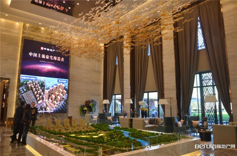中海央墅正式售楼部内实景