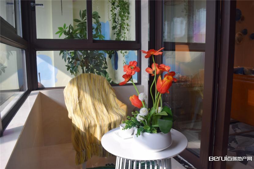 花山堡墅B户型107㎡样板间——阳台