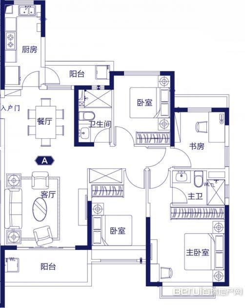 4室2厅2卫139㎡