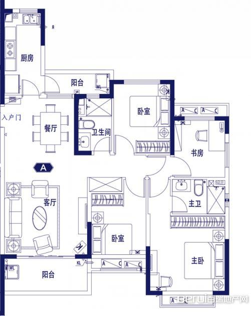4室2厅2卫137㎡