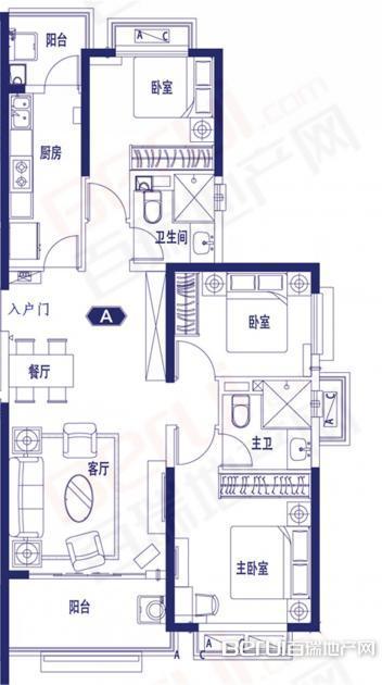 3室2厅2卫125㎡