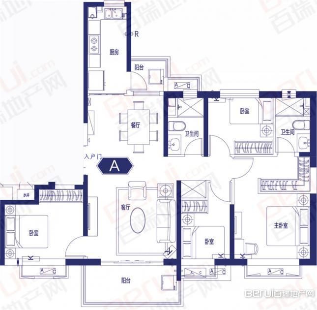 4室2厅2卫144㎡