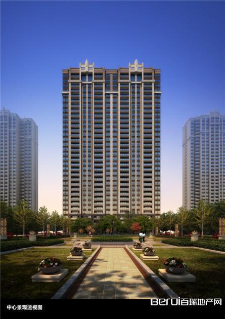 华南城紫荆名都三期和园中心景观透视图