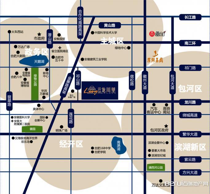 滨湖龙川里交通图