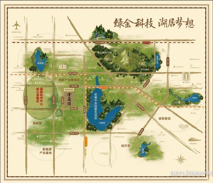 北雁湖金茂湾交通图