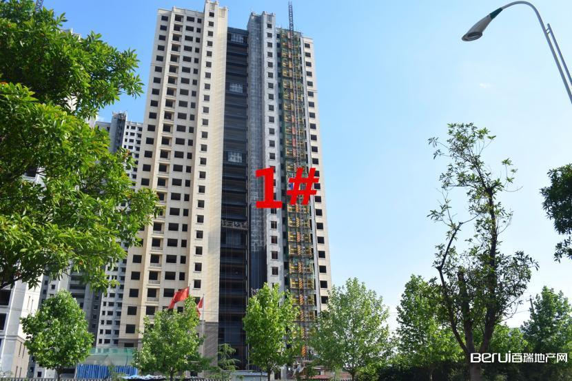 瑞阳公馆5月工程进度1#楼外装修中