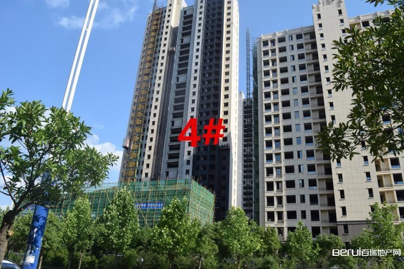 瑞阳公馆5月工程进度4#楼外装修中