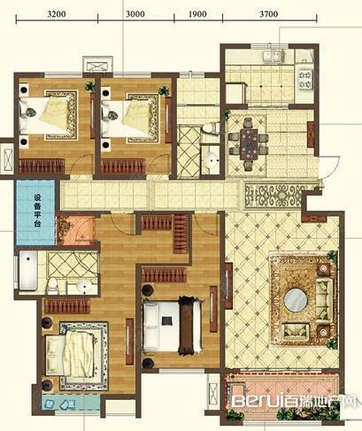 4室2厅2卫178㎡