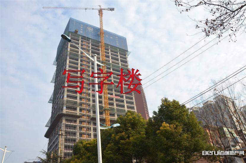 宝利丰广场写字楼正在进行外围软装 3/60