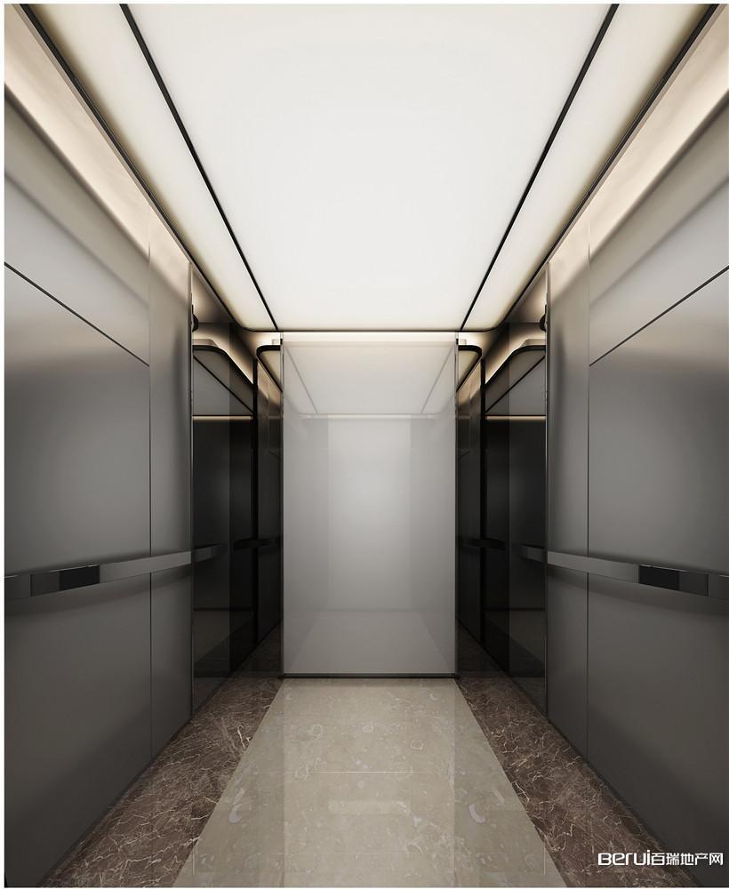 恒大中心518商务体办公电梯桥厢效果图