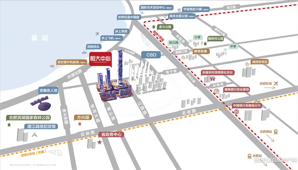 恒大中心518商务体区位图
