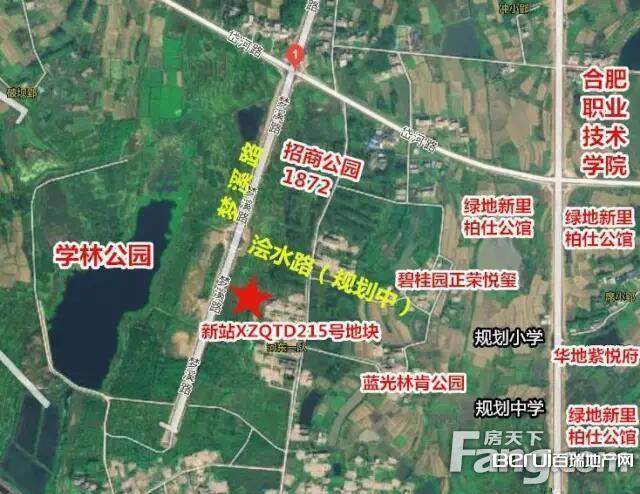 旭辉新站XZQTD215号地块区位图