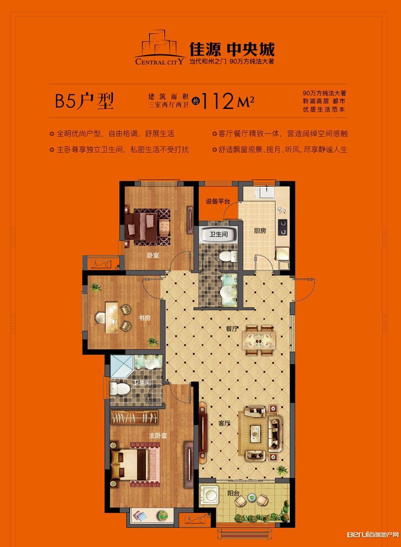 佳源·中央城B5户型