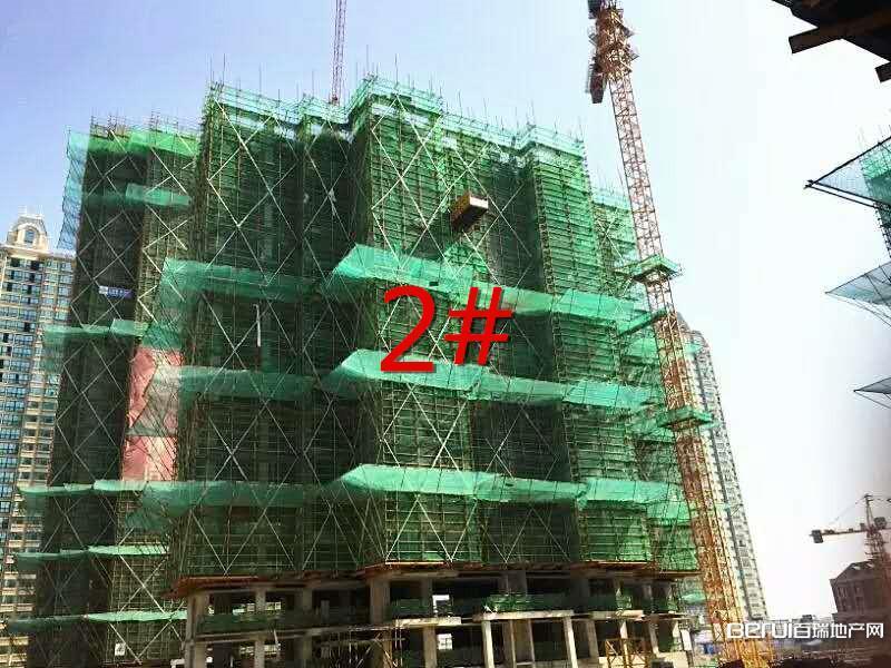 华地森林语8月工程进度:2#建至15层