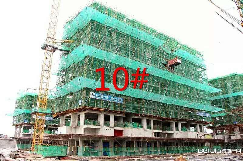 华地森林语8月工程进度:10#楼建至9层