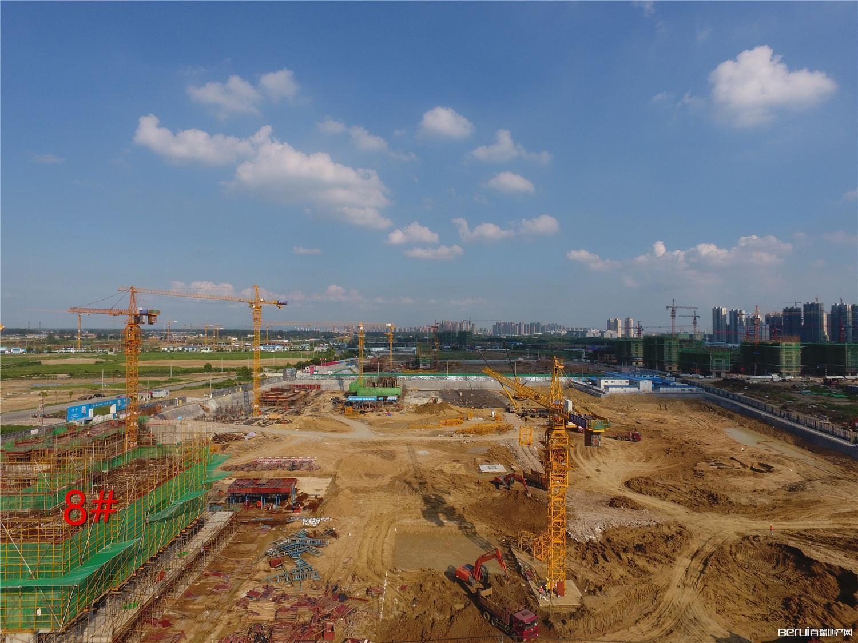 招商公园1872八月工程进度:1#8#建至三层左右