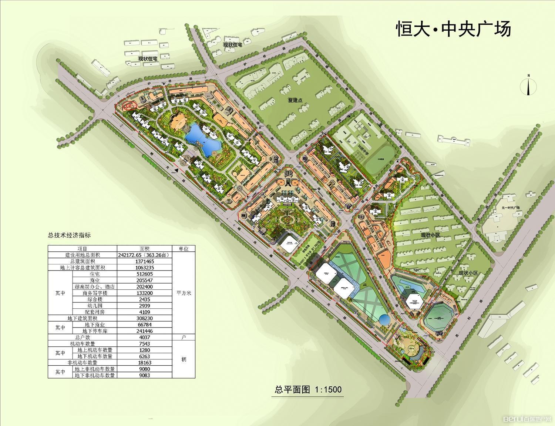 龙玺台平面图