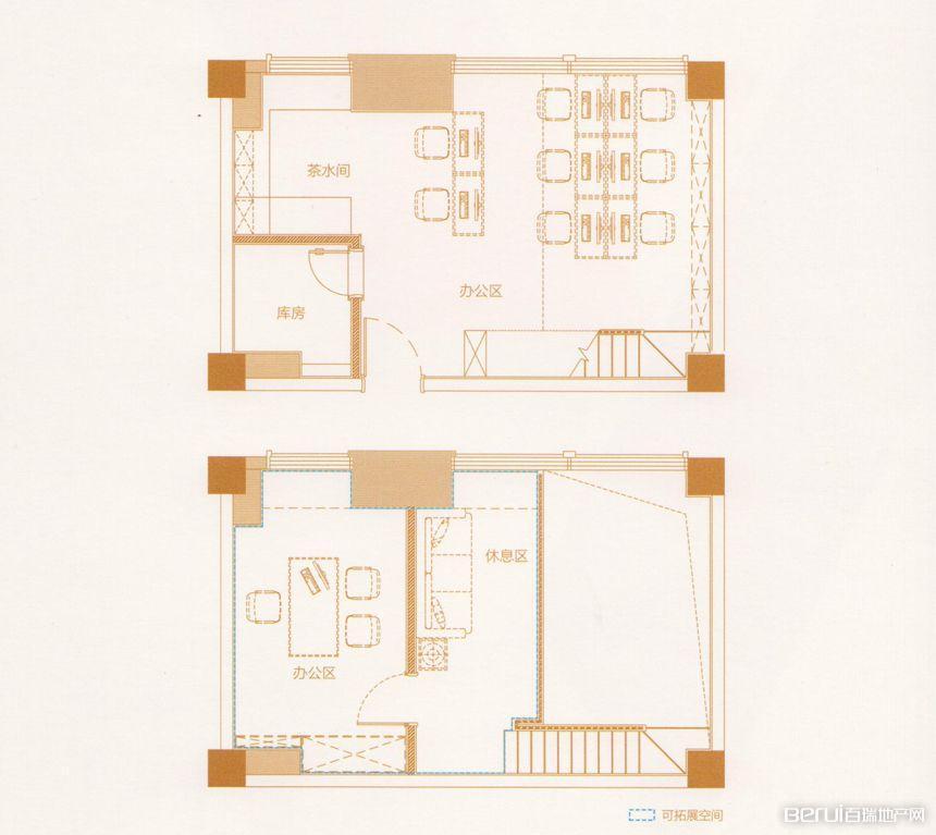 1室1厅1卫56㎡