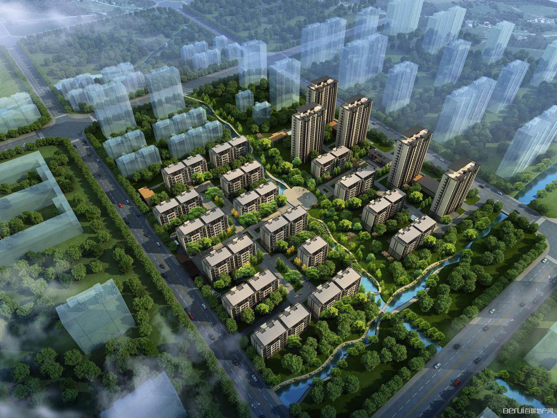 新滨湖孔雀城鸟瞰图