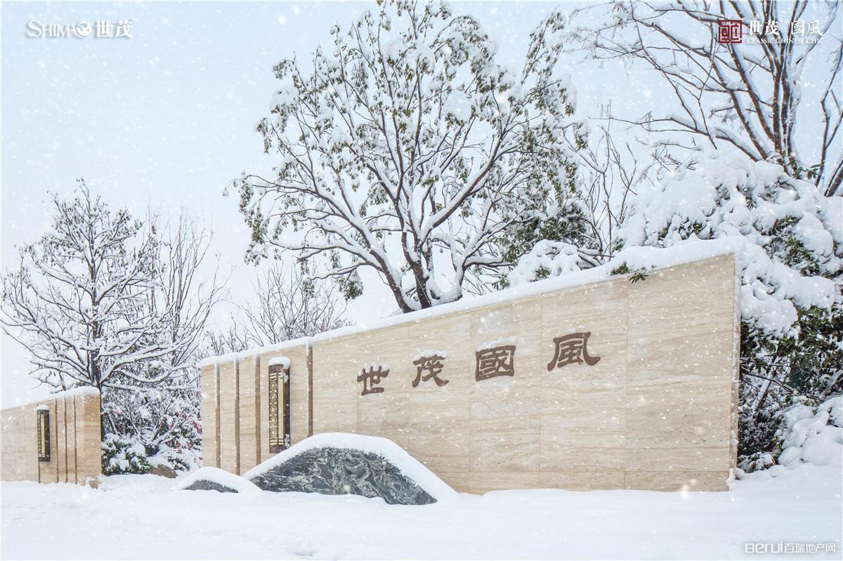 世茂国风营销中心雪景