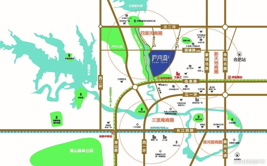 合景庐月湾交通图