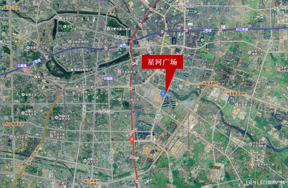 星河广场卫星定位图