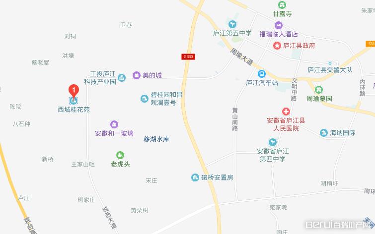 西城桂花苑交通图