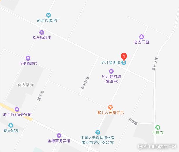 庐江望湖城交通图