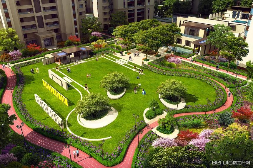 城建琥珀东华府景观带效果图