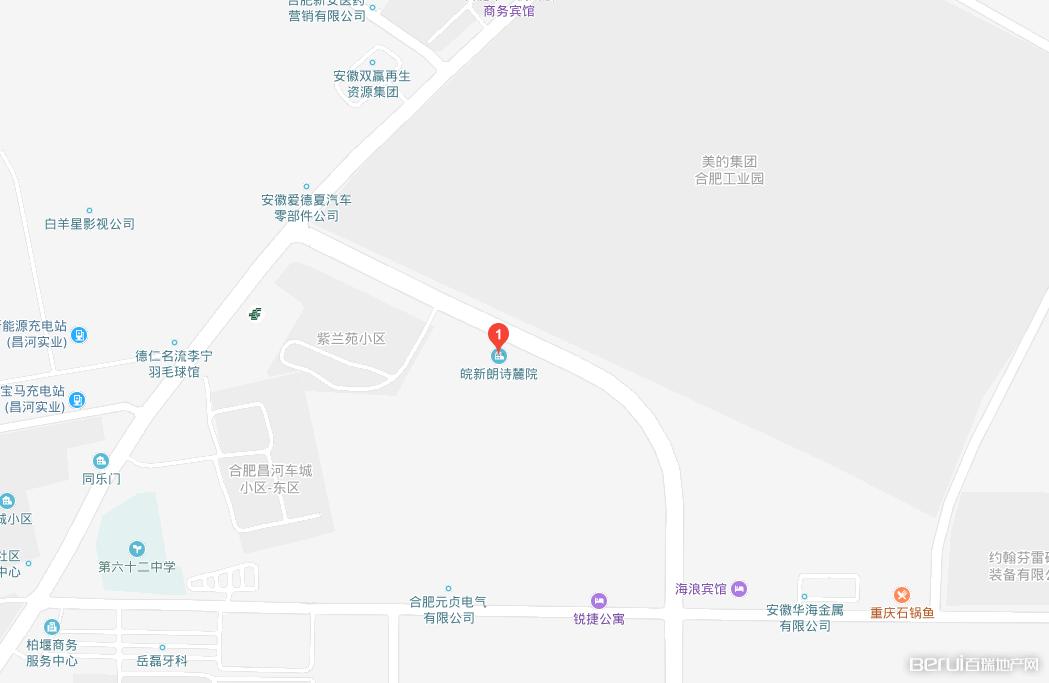 皖新朗诗麓院交通图